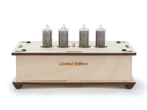 NIXIE CLOCK - SPECIAL EDITION WITH WOODEN LASER CUT ENCLOSURE