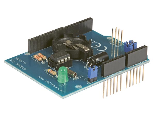 KA07: RTC SHIELD FOR ARDUINO® – Velleman – Wholesaler and