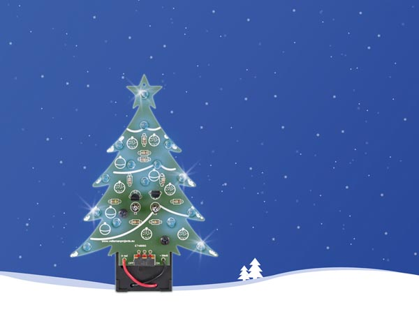 Christmas Tree - Blue LED Version With On/off Switch