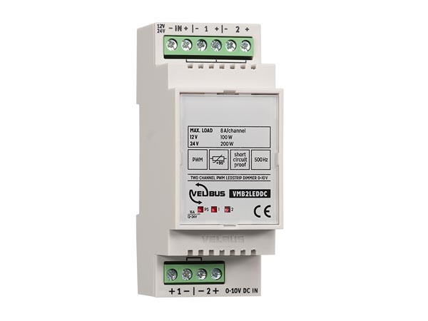 VMB2LEDDC: two-channel 0-10 V controlled PWM dimmer for LED