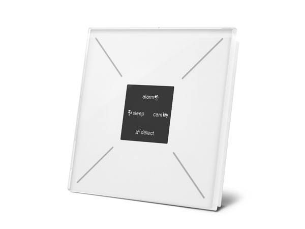 Edge Lit Control Module With Oled Display And Temperature Controller - Glossy Pure White
