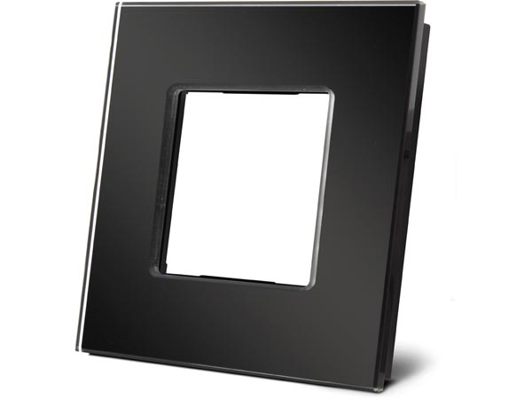 Glass Cover Plate For Niko Black Glossy