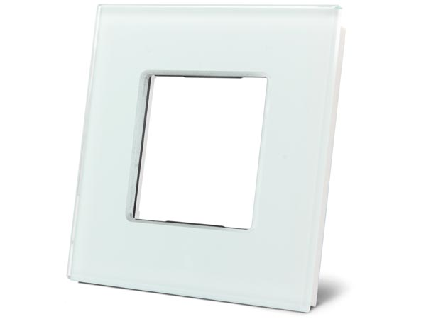 Glass Cover Plate For Niko Pure White Frosted