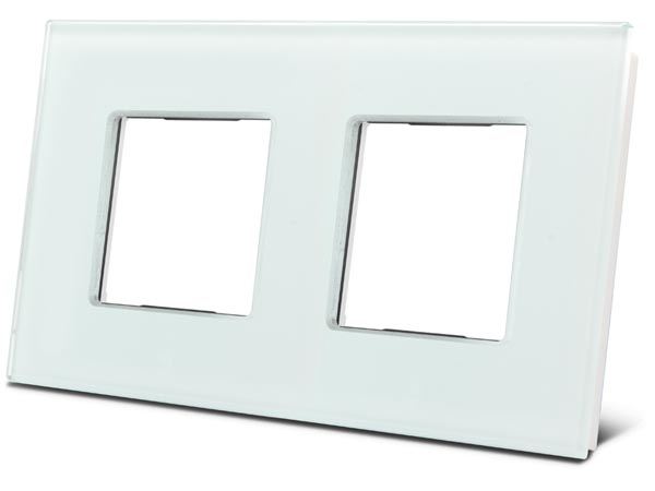 Double Glass Cover Plate For Bticino Livinglight White