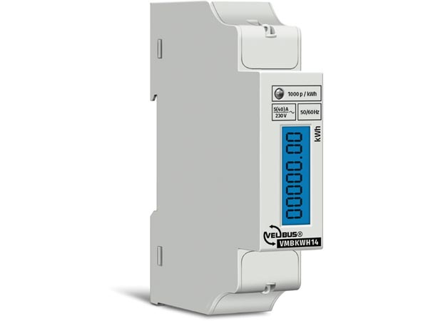 SINGLE-PHASE kWh METER FOR DIN-RAIL MOUNTING - 1 MODULE