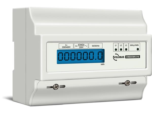 THREE-PHASE - kWh METER FOR DIN-RAIL MOUNTING - 7 MODULES