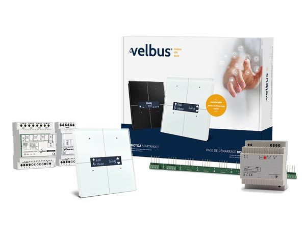 Velbus Starter Kit Incl. White Glass Control Module With Oled Display Vmbgpodw