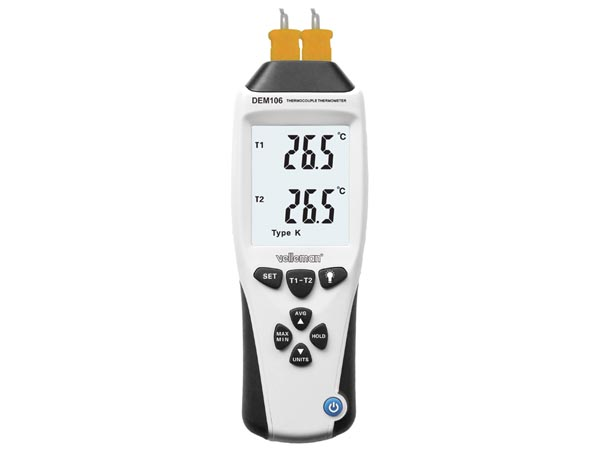 K/J TYPE THERMOCOUPLE THERMOMETER