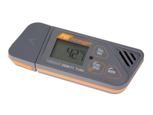 Temperature And Humidity Datalogger With USB Interface (plug & Play)