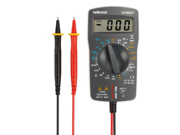 DIGITAL MULTIMETER - CAT II 500V / CAT III 300 V - 1999 COUNTS