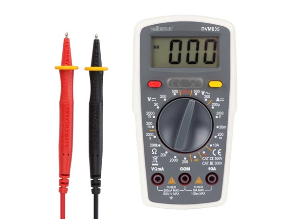 DIGITAL MULTIMETER - CAT. II 500 V / CAT. III 300 V - 10 A -  1999 COUNTS