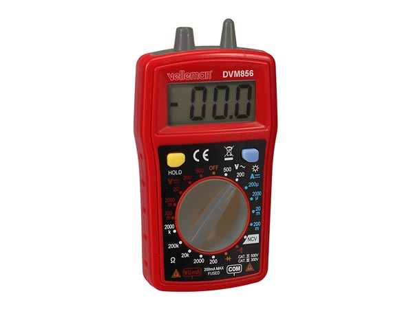 DIGITAL MULTIMETER - CAT III 300 V / CAT II 500 V - 10 A - 1999 COUNTS - NCV / LED / DATA HOLD  / BACKLIGHT / BUZZER