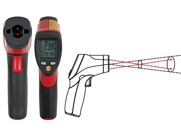 COMPACT INFRARED THERMOMETER WITH DUAL LASER TARGETING
