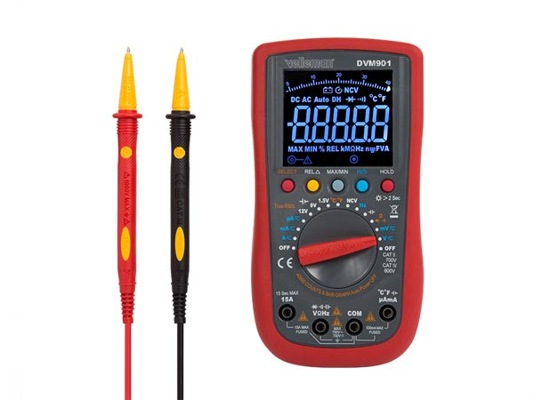 DIGITAL MULTIMETER - CAT II 700 V / CAT IV 600 V - 15 A - AUTO - TRUE RMS - NCV - 40000 COUNTS + test leads TLM72
