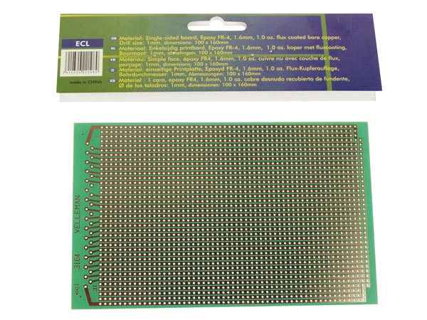 Eurocard Full Line - 100x160mm - Fr4 (25pcs/box)