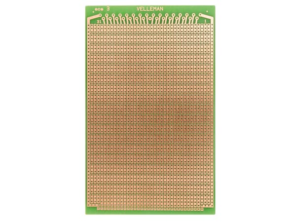 Makettplaat: EUROCARD 3-avaga saared - 100x160mm - FR4 (1tk./blister)