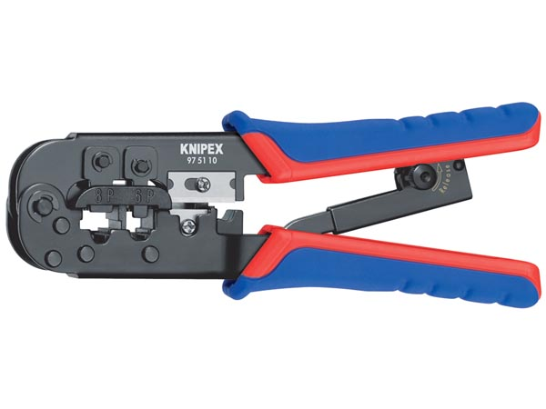 CRIMPING PLIERS FOR RJ11/12 - RJ45 PLUGS - BURNISHED - 190MM