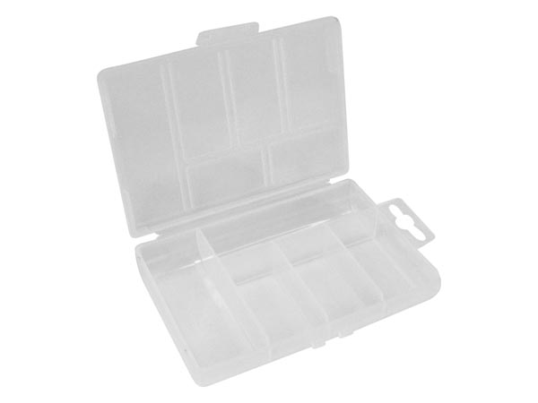 Plastic Storage Box (85 X 135 X 25mm / 3.35in X 5.31in X 0.98in) - 5 Compartments