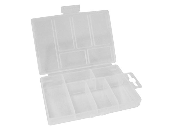 Plastic Storage Box (85 X 135 X 25mm / 3.35in X 5.31in X 0.98in) - 6 Compartments