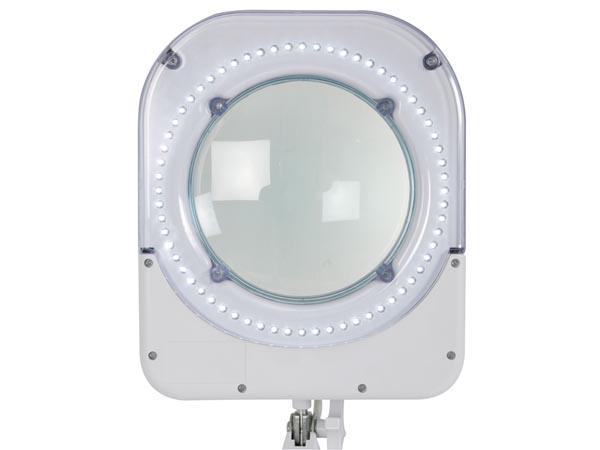 64 LED LAMP WITH MAGNIFYING GLASS - 5 DIOPTER - 6 W WHITE