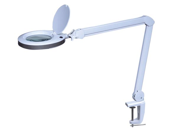 LED DESK LAMP WITH MAGNIFYING GLASS 8 DIOPTRE - 8 W - 80 LEDS - WHITE