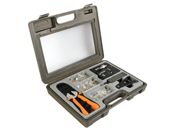 CRIMPING TOOL KIT FOR MODULAR CONNECTORS 4P4C (RJ10), 6P4C (RJ11), 6P6C (RJ12), 8P8C (RJ45)