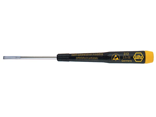 WIHA - ESD PRECISION SCREWDRIVER - SLOTTED 2.5 x 50mm