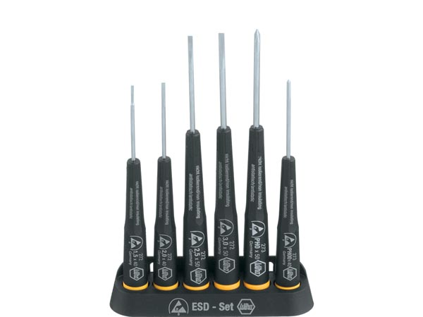Wiha Screwdriver set Precision ESD Slotted, Phillips 6-pcs. (08463)