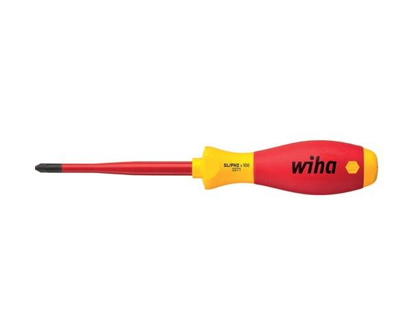 SLIMFIX SOFTFINISH VDE/GS ELECTRIC XENO SL/PH2x100 SCREWDRIVER FOR TERMINAL SCREWS - WIHA - 3271