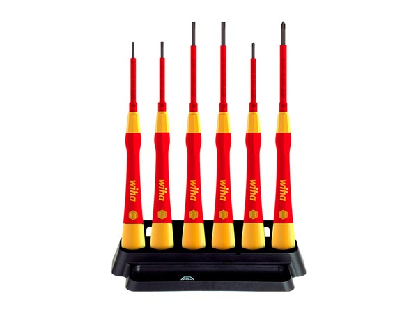 WIHA FINE SCREWDRIVER SET PICOFINISH ELECTRIC SLOTTED, PHILLIPS 6-pcs. (42989)