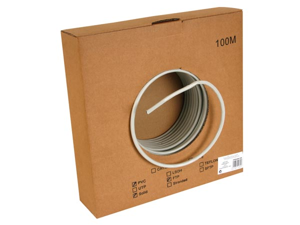 Cable Ftp, CAT6, 4 X 2 X 0.57mm, 4 Paires Torsadees, Longueur : 100m
