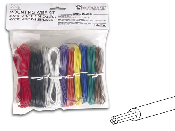 Mounting Wire Kit - 10 Colours - 60m