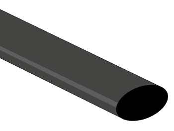Shrinkable Tube 2:1 - 12.7mm - Black - 1m - Low-cost