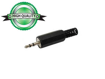 Stereo Jack 2.5mm Male Black