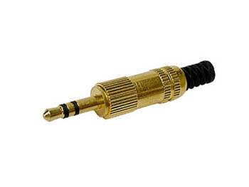 3.5mm MALE JACK CONNECTORS - GOLD STEREO