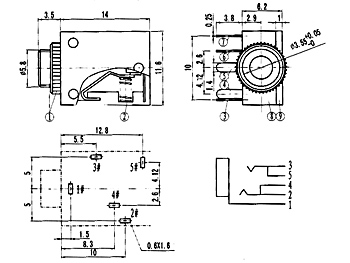 a v wiring diagram 3 5mm jack mono to stereo wiring