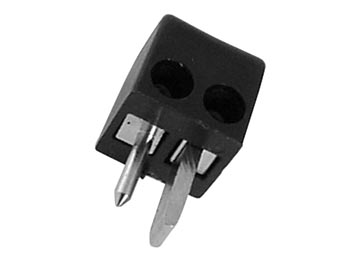 2P IN-CAR PLUG - SQUARE - BLACK