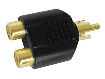 DUAL FEMALE RCA TO MALE RCA - GOLD