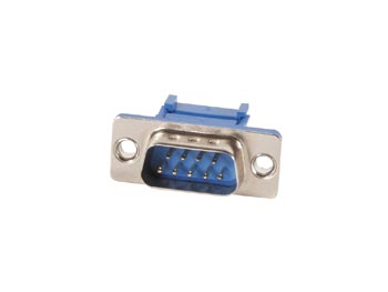 MALE 9-PIN SUB-D CONNECTOR FOR FLAT CABLE