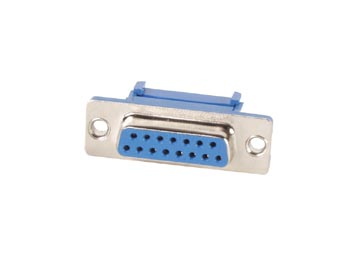 FEMALE 15-PIN SUB-D CONNECTOR FOR FLAT CABLE
