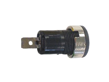 4mm Plug Female Black, Faston Connection, Chassis Mount, Iec1010