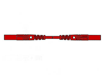 Contact Protected Measuring Lead 25cm, Red, Straight Outlet 4mm - Mlb/gg-sh25/1