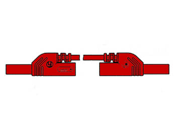 CONTACT PROTECTED INJECTION-MOULDED MEASURING LEAD 4mm 25cm / RED (MLB-SH/WS 25/1)