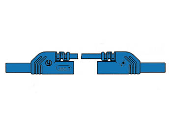CONTACT PROTECTED INJECTION-MOULDED MEASURING LEAD 4mm 25cm / BLUE (MLB-SH/WS 25/1)