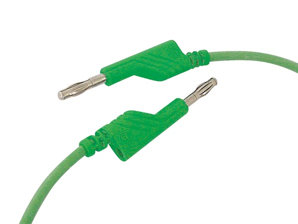 Silicon Protected Measuring Lead 50cm, Green, Outlet 4mm  (mln-sil / 1)