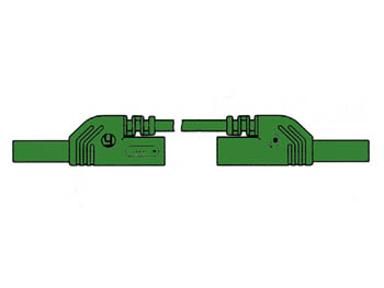Contact Protected Measuring Lead 25cm, Green, Onward Outlet 4mm - Mlb-sh/ws25/1