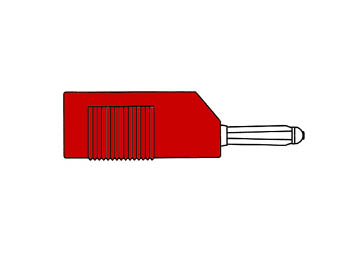 Multiple Spring Wire Plug, Red, 4mm - Bsb20k