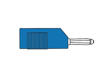 Multiple Spring Wire Plug, Blue, 4mm - Bsb20k