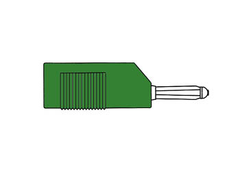 Multiple Spring Wire Plug, Green, 4mm - Bsb20k