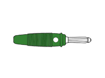 Multiple Spring Wire Plug, Green, 4mm, Solder Connection - Bula30k